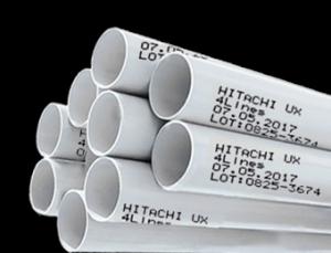 impresión sobre tubos de pvc